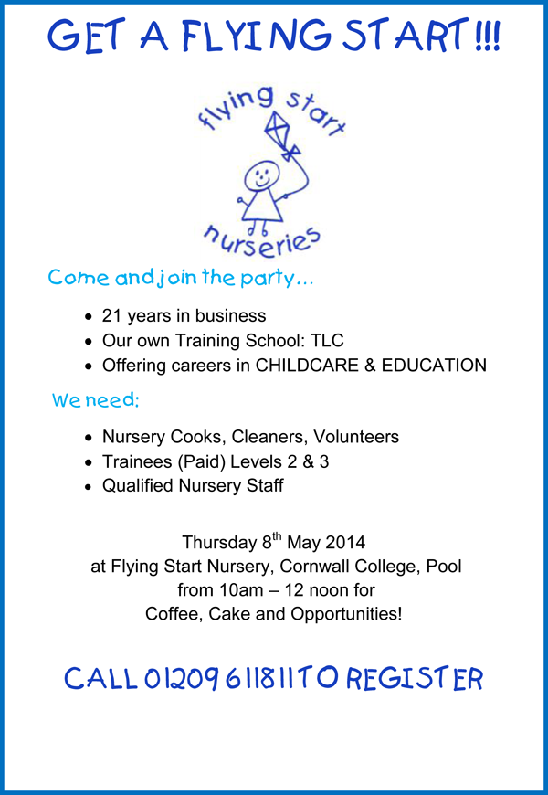 Recruitment Open Day Flying Start Childcare Nurseries